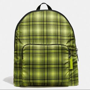 NWT COACH F38766 packable backpack soft plaid